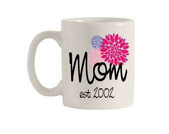 Mom, Gifts for Mom, Mom gifts, Mom mug, Mom est, Mom est mug, Mom established, Mom established mug, Mothers Day Gift, Mug, Personalized Mom