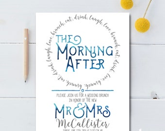Post Wedding Brunch Invitation Printable - The Morning After Wedding Brunch Invitation Printable - Printable Post Wedding Brunch Invite