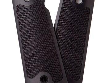 Alumagrips: All 1911 Slimline Standard Checkered Magwell Grips