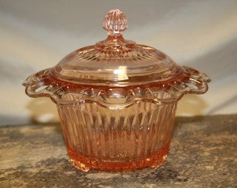 Anchor Hocking Depression Glass Bowl with Lid
