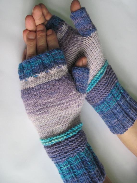 Mens knitted mittens Fingerless gloves Winter mittens Hand knit Wool Mitten men's gift Father Christmas gift men Merino Wool Men's Gloves