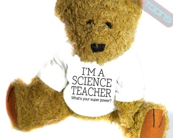 Science Teacher Novelty Gift Teddy Bear