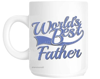Father Dad World's Best Blue Father's Day Novelty Gift Mug shan826