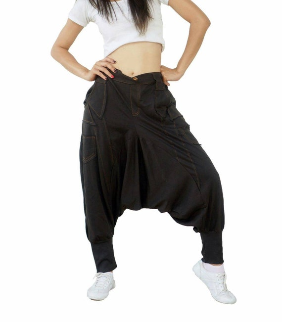 Drop crotch harem pants with slim leg / drop crotch pants unique cut & details / low crotch pants women / low crotch men unique streetwear Drop crotch shorts LOW CROTCH PANTS Jogger pants Harem pants Vintage pants Slim Legs Men Clothes Man Skirt Pants for .
