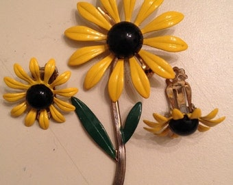 Blackeyed susan flower 3 pc jewelry set