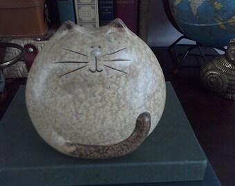 Really Fat Ceramic Cat