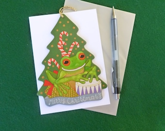 Treefrog with candy cane
