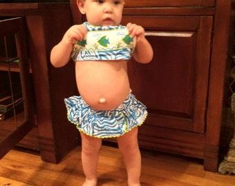 Smocked Fish Swim Suit