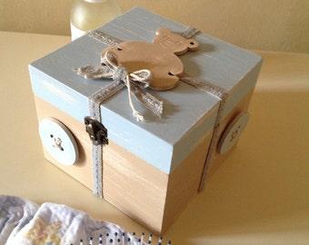 Blue Teddy bear box