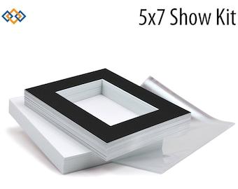 5x7 Photo Mats Show Kit (25 Mats + Backers + Bags)