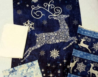 Reindeer Magic (blue, white, and silver) (in progress)