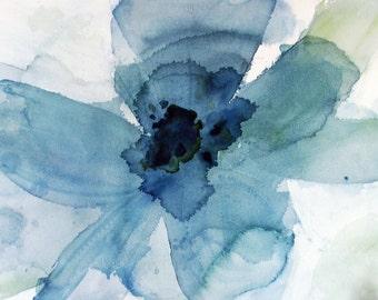 Big Blue watercolor