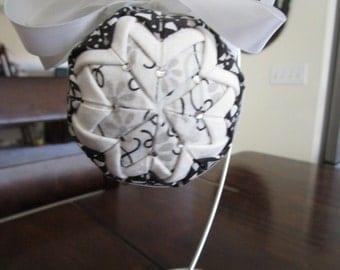 Handmade Black and White Ornament