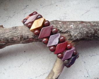 Mookait Jasper, bracelet, Bangle, bracelets, diamonds & pearls