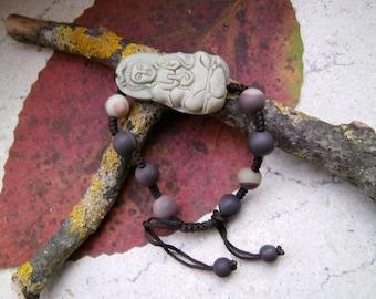 Zipao jade, Buddha, beads, bracelet, Mala, bracelet