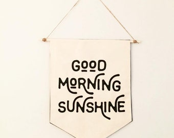 Good Morning Sunshine / Goodnight Darling Wall Banner