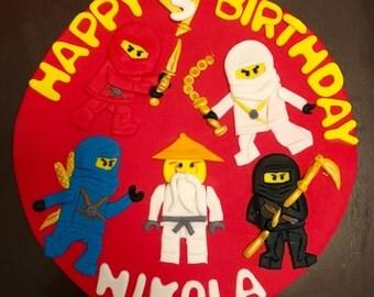 Ninjago cake topper