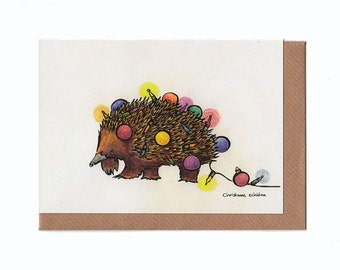 Christmas Echidna - Holiday Card