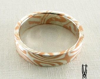 Mokume Gane Ring, Sterling Silver, Wedding Rings, Mokume Gane,matte coating