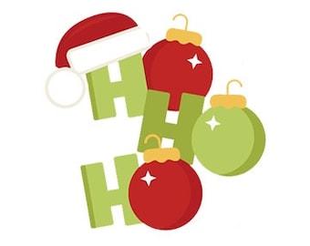 Santa Ho Ho Ho Christmas Machine Embroidery Design