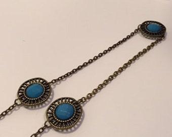 Turquoise Medallion Layering Necklace