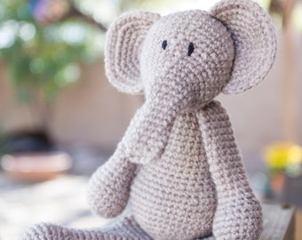 Hand Crocheted Elephant