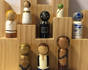 Wood Peg People Star Wars Set