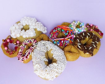 J Dilla Hand Beaded Colourful Embroidered Donuts