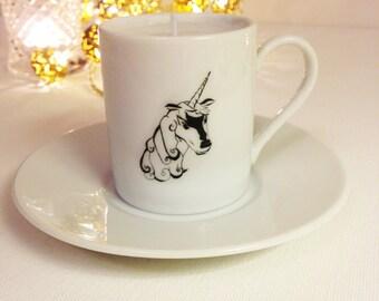 Teacup (Espresso Cup) Unicorn Candle