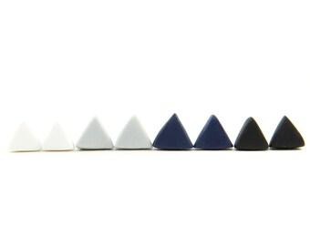 TRIANGLE Polymer Clay Earring Studs - BASICS