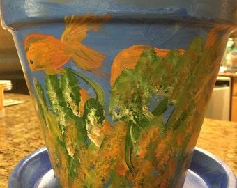 Under the Sea Terracotta Pot
