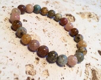 FREE G-BOX,Agate Bracelet,mala bracelet,multicolor mala bracelet,multicolor agate bracelet,bohemian bracelet,boho bracelet,yoga bracelet,yog