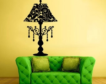 rvz1552 Wall Decal Vinyl Sticker Decals Table Lamp Interior Decal Modern
