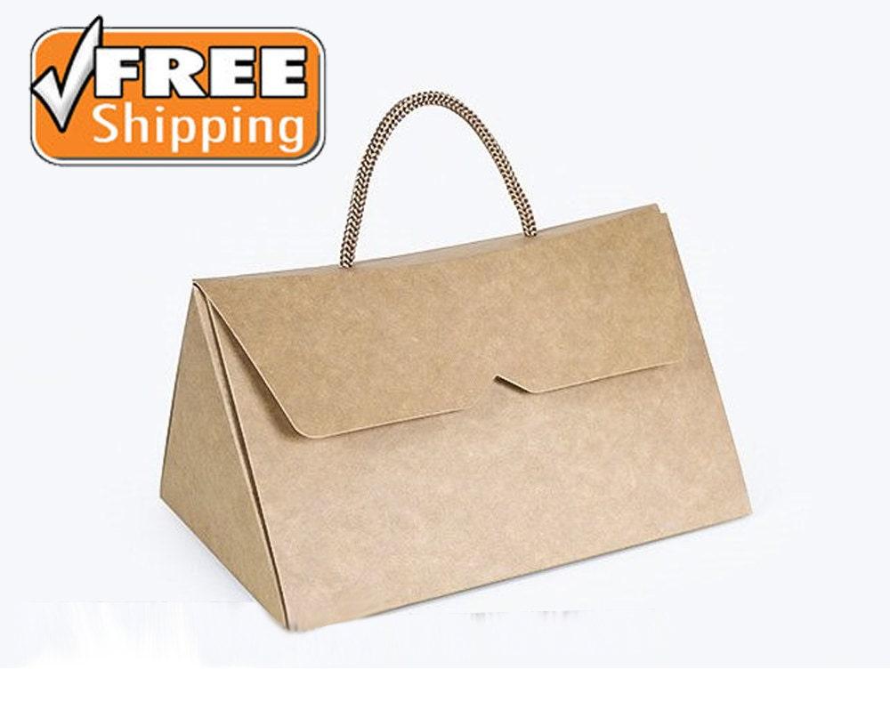 Gift bags natural brown kraft