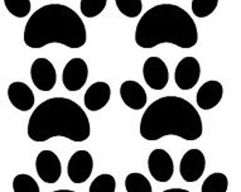 Vinyl Decal - Tanning Decal, paws, paw, paw print, paw prints, Tanning sticker, tanning stickers, scrapbook, cards, crafts.