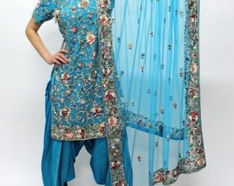 Blue Parsi Suit