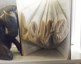 Folded Book Art - Love Word Book - Word Book - Love Art - Display Book - Bookcase Decor