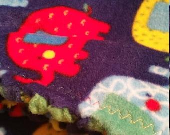 Custom Handmade Fleece Elephant Crib/Baby Blanket