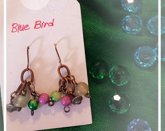 Fancy colorful branch earrings