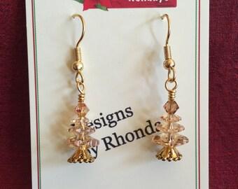 Elegant Christmas Tree Earrings