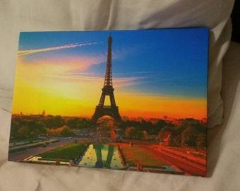 Paris Effiel Tower A4 Canvas
