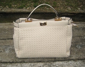 Handbag and shoulder bag-cream-Vegan Leather-Eco Bag