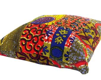 African Wax Print Cushion