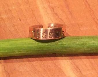 Montessori Copper Thumb Ring