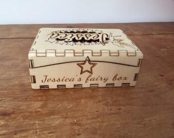 Handmade fairy keepsake box