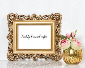 Freshly brewed coffee sign | Wedding coffee bar sign | After dinner coffee bar sign | Coffee bar sign | Sign for wedding coffee bar S1