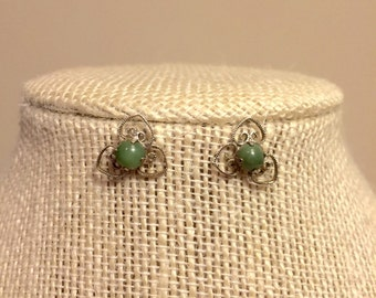 REDUCED FOR SALE Sterling Silver and Jade earrings
