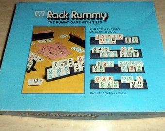 Rack Rummy - 1979 - 2 to 4 players - Game Night - Tile Game