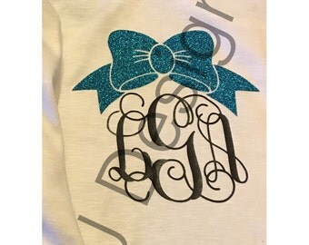 YOUTH Girls Monogram Tank with Bow