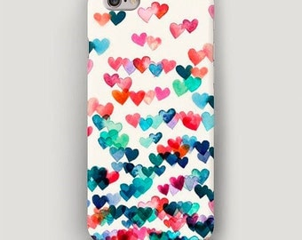 Heart Pattern iPhone 6 Plus Case, iPhone 6 Case Colorful, iPhone 5s Case, iPhone 5c Case, iPhone 4 Case